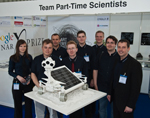 "Part-Time Scientists in their hometown Berlin with Moon Rover ""Asimov"""