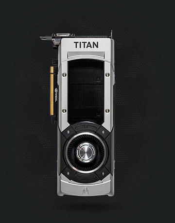 Top view of the GeForce GTX TITAN Black graphics card