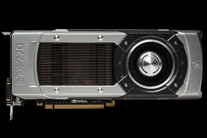 Horizontal view of the GTX 770 graphics card