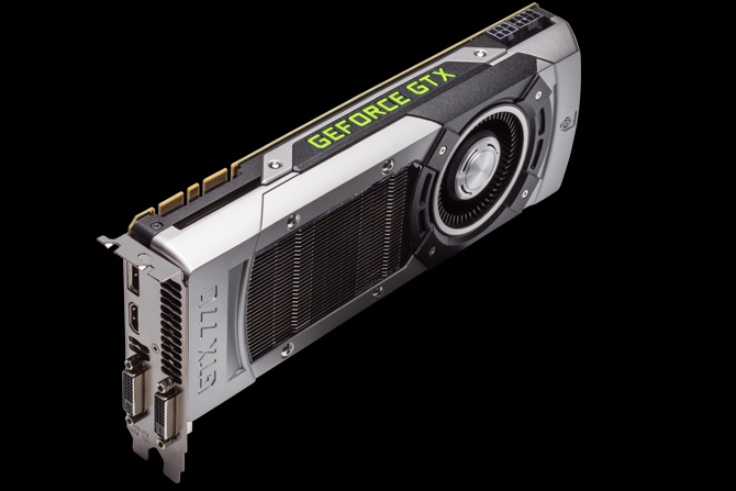 Edge view of the GTX 770 graphics card