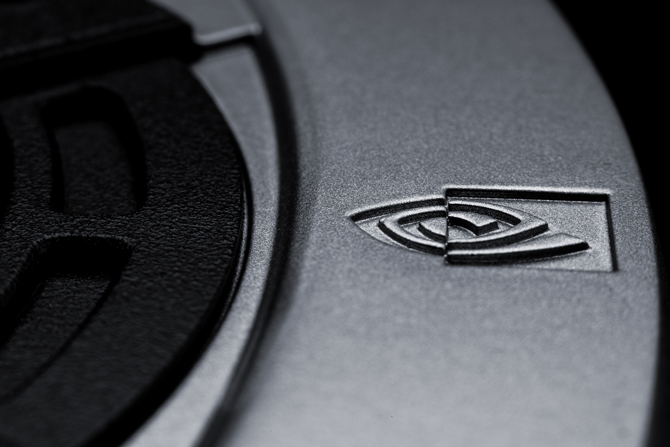 NVIDIA logo detail on the GTX 770 graphics card