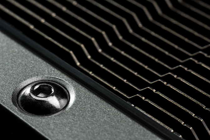 Construction detail showing the grill on the GTX 780 graphics card