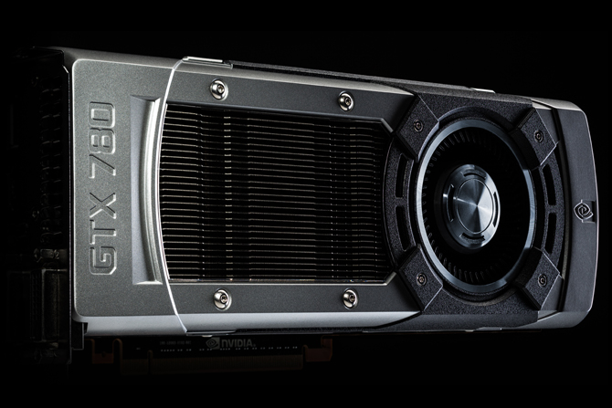 Edge view of the GTX 780 graphics card