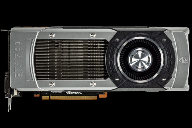 Horizontal view of the GTX 780 graphics card